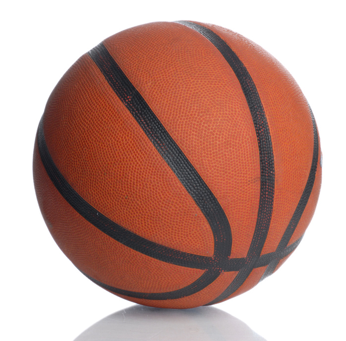 leather basketball isolated on a white background