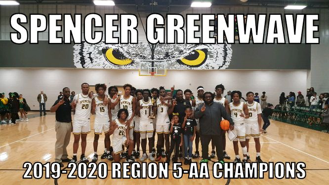 Spencer Greenwave Basketball 2020 Region 5 AA Champions